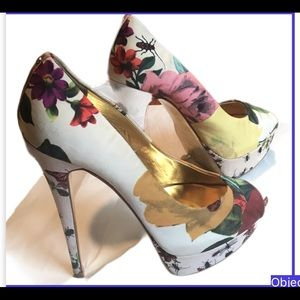 Ted Baker Carlina Heels flora satin size 7 shoes